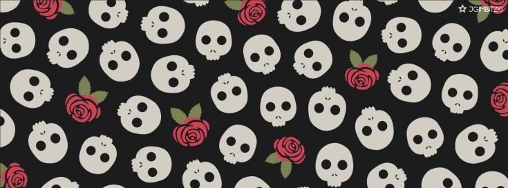facebook cover skulls & roses