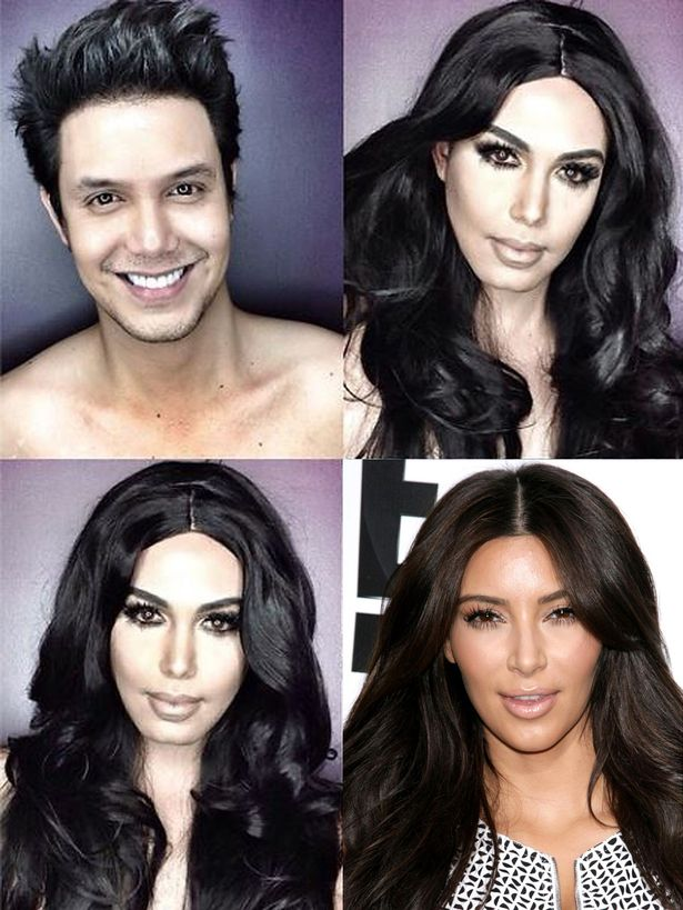 MAKEUP ARTIST TRANSFORMS HIMSELF IN FAMOUS FEMALE CELEBRITIES |