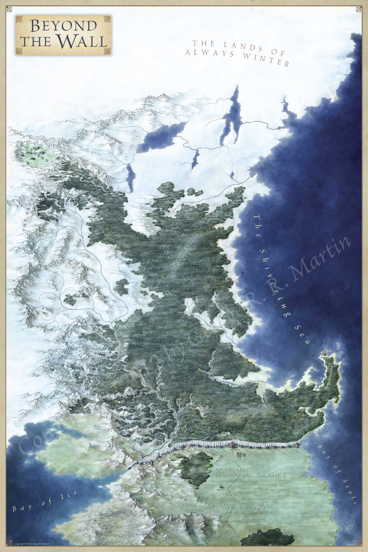 Game of thrones maps by jonathan roberts each map is 3 feet by 2 feet in size 72 square feet of maps in total and you can buy all the posters the world map for game of thrones gumiabroncs Gallery