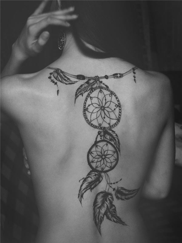 8-cool-dreamcatcher-tattoo