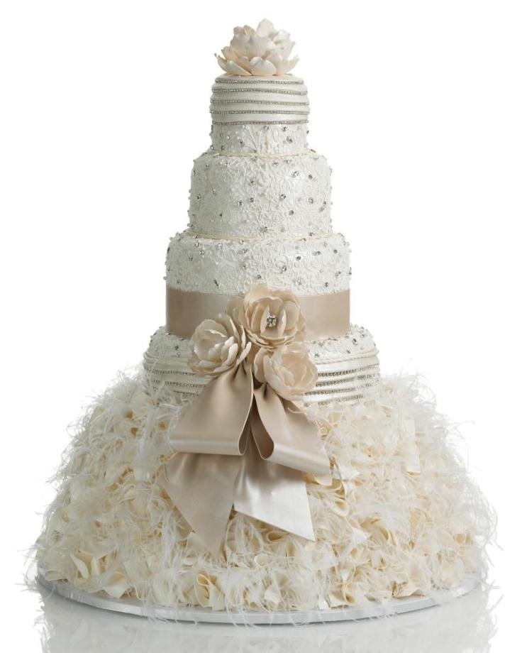 dress-wedding-cake