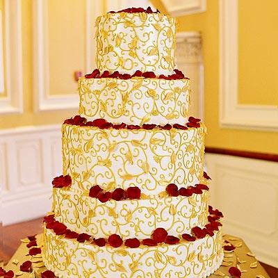 golden-wedding-cake