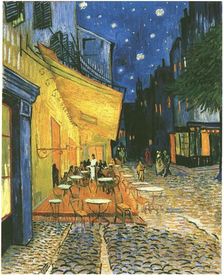 The Café Terrace on the Place du Forum, Arles, at Night