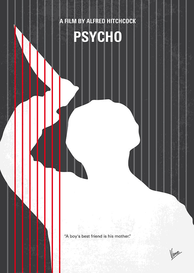 Posters inspired in alfred hitchcock s movie psycho for Minimal artwork