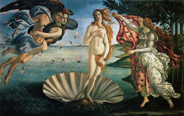 Obra-16SANDRO-BOTTICELLI-1845-1510-O-Nascimento-de-Venus-e-Primavera