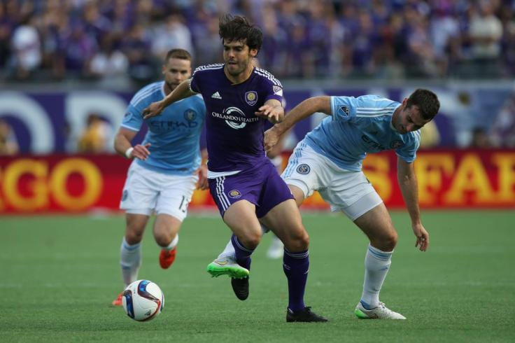 ORLANDO, FL - MARCH 08: Kaka #10 of Orlando City SC dribbles the ball during an MLS soccer match between the New York City FC and the Orlando City SC at the Orlando Citrus Bowl on March 8, 2015 in Orlando, Florida.   Alex Menendez/Getty Images/AFP
