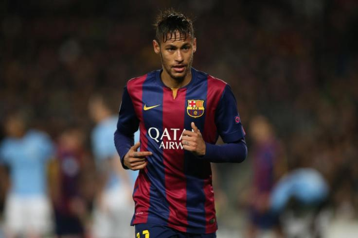 BARCELONA, SPAIN - MARCH 18:  Neymar of Barcelona looks on during the UEFA Champions League Round of 16 match between Barcelona and Manchester City at Camp Nou on March 18, 2015 in Barcelona, Spain. (Photo by Ian MacNicol/Getty Images)