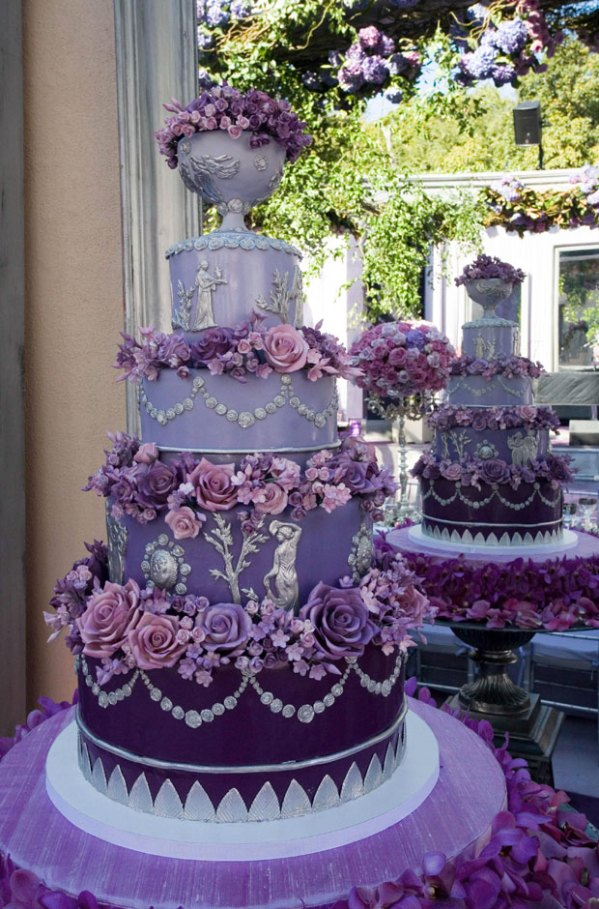 pink_and_purple_wedding_cakes