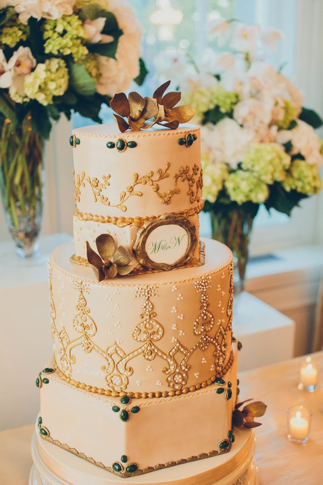 wedding-cakes-metallic