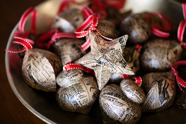 Newspaper-Christmas-Ornaments-by-Tuck-and-Bonte