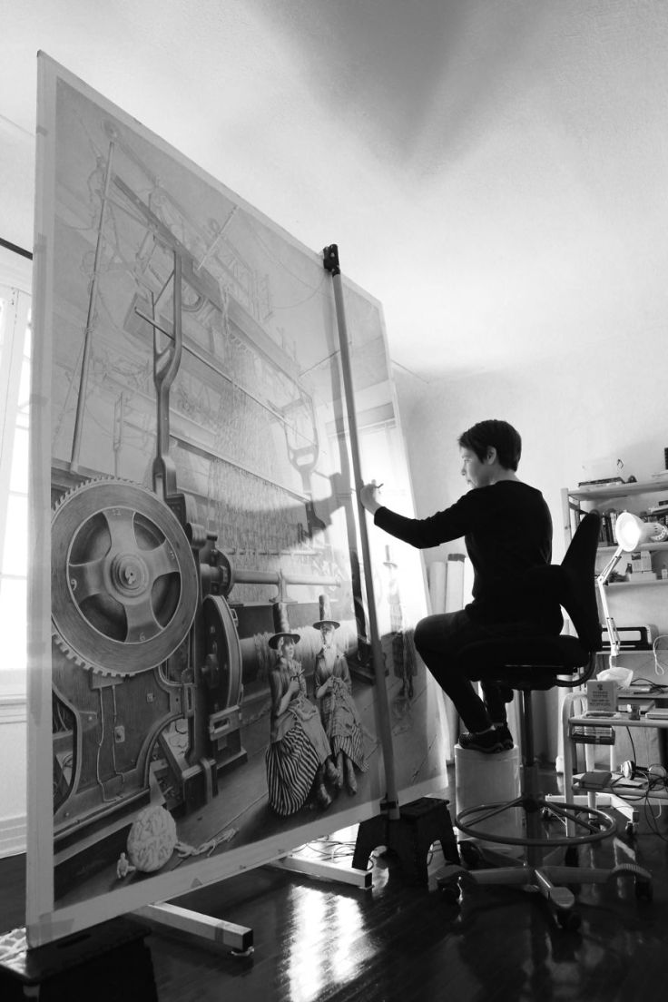 famous-artists-and-their-muses-in-their-studios-2